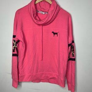 PINK Cowl Neck Sweatshirt M